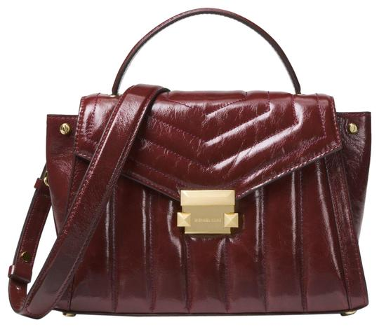 Preload https://img-static.tradesy.com/item/24156264/michael-kors-whitney-medium-quilted-30f8gxis6t-oxblood-leather-satchel-0-1-540-540.jpg