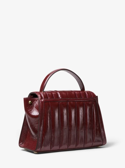 Michael Kors Leather 30f8gxis6t Satchel in Oxblood