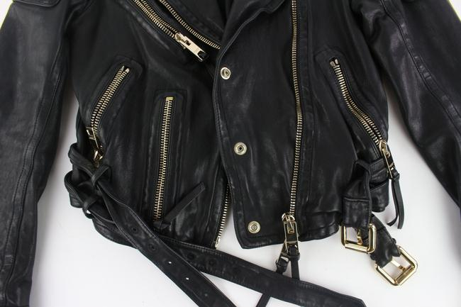 Burberry Prorsum Studded Moto Balenciaga Chanel Belted Leather Jacket