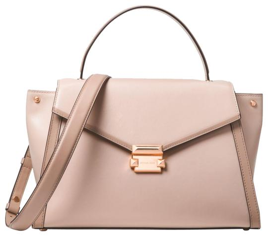 Preload https://img-static.tradesy.com/item/24156273/michael-kors-whitney-large-30t8txis3t-soft-pink-leather-satchel-0-1-540-540.jpg