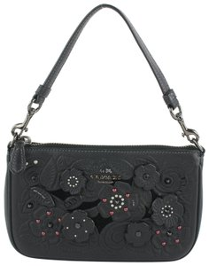 Coach Pouch Accessory Pochette Poche Clutch Wristlet in Black