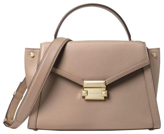 Preload https://img-static.tradesy.com/item/24156286/michael-kors-whitney-medium-30t8txis6l-truffle-leather-satchel-0-1-540-540.jpg