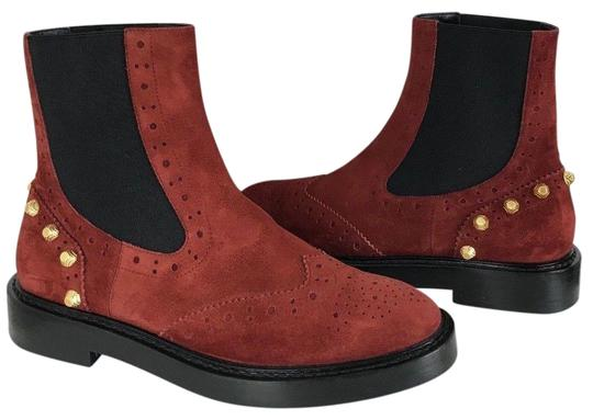 Preload https://img-static.tradesy.com/item/24156294/balenciaga-red-suede-wing-tip-chelsea-gold-studded-stud-ankle-bootsbooties-size-eu-38-approx-us-8-re-0-1-540-540.jpg
