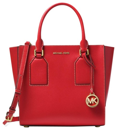 Michael Kors Leather 30h5geys6l Satchel in Bright Red