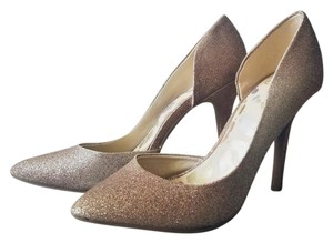 Juicy Couture Party Glitter Gold Pumps