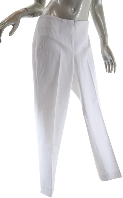 Preload https://img-static.tradesy.com/item/24156412/peace-of-cloth-white-cotton-stretch-twill-narrow-leg-clean-front-pants-size-10-m-31-0-1-650-650.jpg