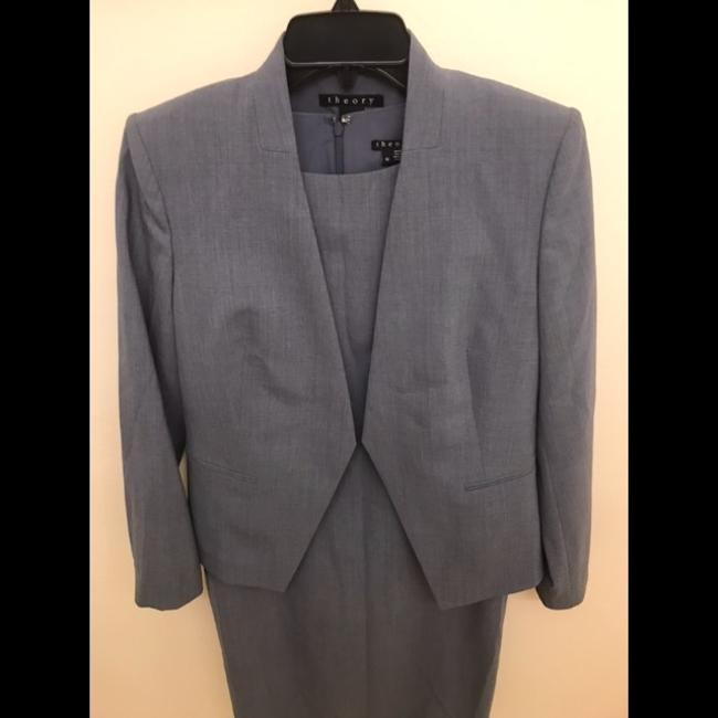 Theory Grey. Blue Blazer