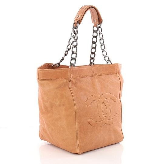 Chanel Leather Tote in dark tan