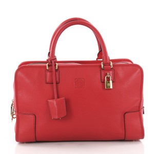 Loewe Leather Satchel in red