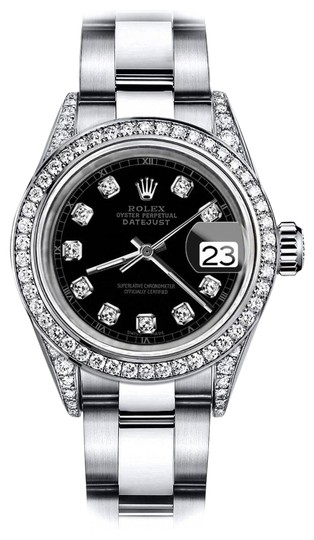 Preload https://img-static.tradesy.com/item/24156475/rolex-stainless-steel-black-track-31mm-datejust-genuine-diamond-lugs-and-bezel-watch-0-1-540-540.jpg