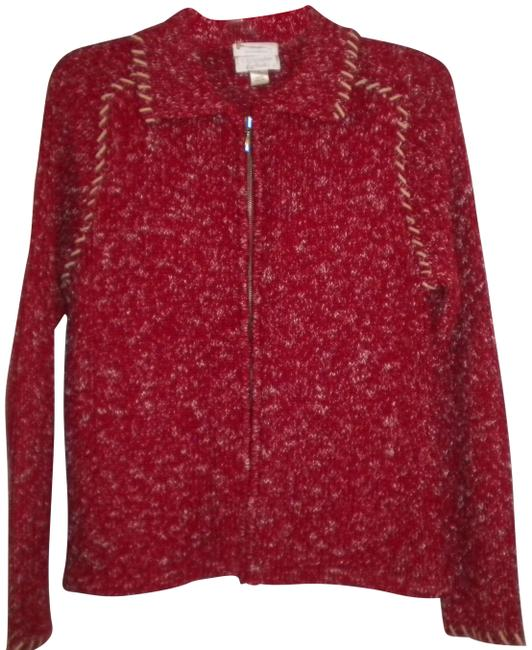 Preload https://img-static.tradesy.com/item/24156480/christopher-and-banks-women-small-cardigan-redwhite-sweater-0-1-650-650.jpg