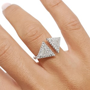 Bestbrilliance 1.5 CARAT TRILLIANT CUT MOISSANITE - ART DECO RING - 14K WHITE GOLD