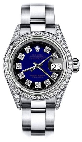 Preload https://img-static.tradesy.com/item/24156535/rolex-stainless-steel-blue-vignette-sp-31mm-datejust-diamonds-on-lugs-and-bezel-watch-0-1-540-540.jpg