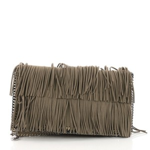 Stella McCartney Faux Suede Taupe Clutch