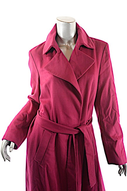 DKNY Wool Angora Cashmere Blend Trench Coat
