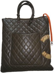 Chanel Tote in Olive Green with Python