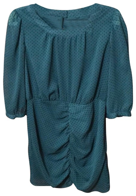 Preload https://img-static.tradesy.com/item/24156561/i-heart-ronson-teal-and-black-short-night-out-dress-size-8-m-0-1-650-650.jpg