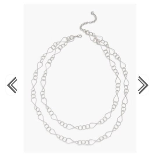 Preload https://img-static.tradesy.com/item/24156588/talbots-silver-double-layer-necklace-0-0-540-540.jpg