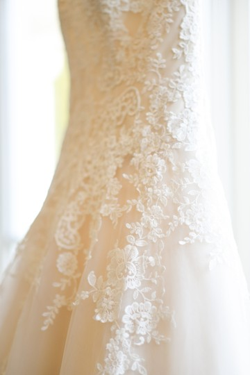 KittyChen Couture Ivory White Lace Overlay