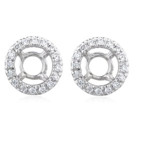 JMD LUX 14K Gold .50 Cttw Diamond Earring Jackets, Perfect for 1 Carat Studs