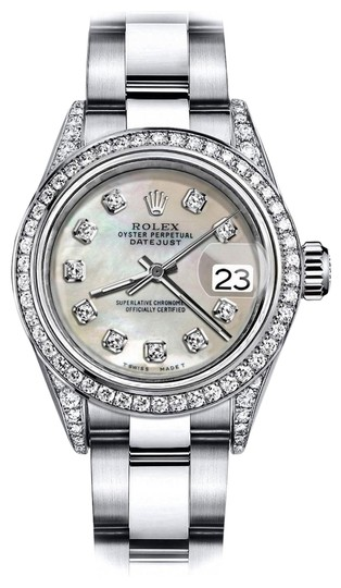 Preload https://img-static.tradesy.com/item/24156725/rolex-stainless-steel-ivory-pearl-31mm-datejust-diamond-bezel-and-lugs-oyster-band-watch-0-1-540-540.jpg