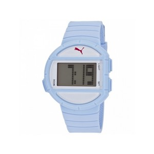 Puma PU910892008 Women's Light Blue Rubber Band With Digital Dial Watch