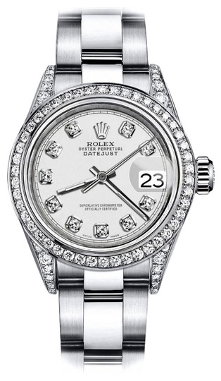 Preload https://img-static.tradesy.com/item/24156743/rolex-stainless-steel-ivory-track-31mm-datejust-diamonds-bezel-and-shoulders-oyster-watch-0-1-540-540.jpg