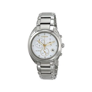 Citizen FB1390-53A Women's Silver Steel Bracelet With White Analog Dial Watch