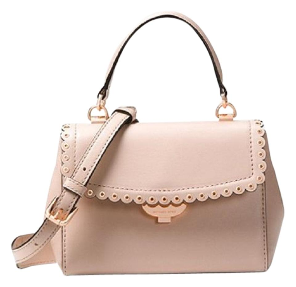 4be767b69b64 MICHAEL Michael Kors Ava Extra-small Scalloped Soft Pink Leather ...