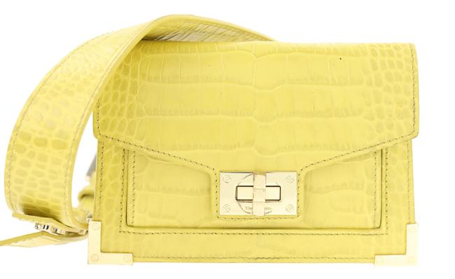 Item - Emily Croc-embossed Yellow Leather Backpack