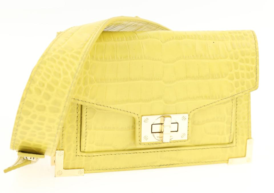 a689c0c627 The Kooples Emily Croc-embossed Yellow Leather Backpack - Tradesy