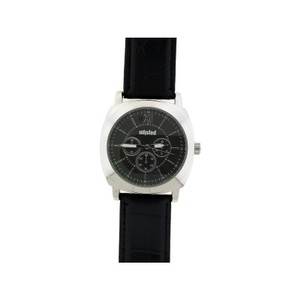 Unlisted by Kenneth Cole 10031957 Men's Black Leather Band With Black Analog Dial Watch