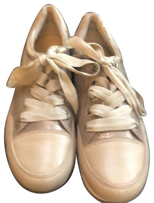 Item - Nude/Gold Lace Ups Loafer Flats Size US 8 Regular (M, B)