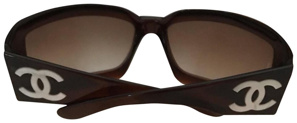 85e197c3be Chanel Brown Mother Of Pearl Sunglasses - Tradesy
