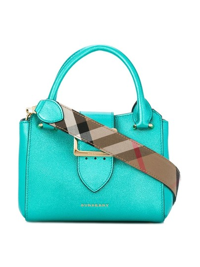 Preload https://img-static.tradesy.com/item/24157334/burberry-small-buckle-tote-blue-leather-shoulder-bag-0-1-540-540.jpg