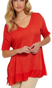 Eileen Fisher Top Firefly Red Orange