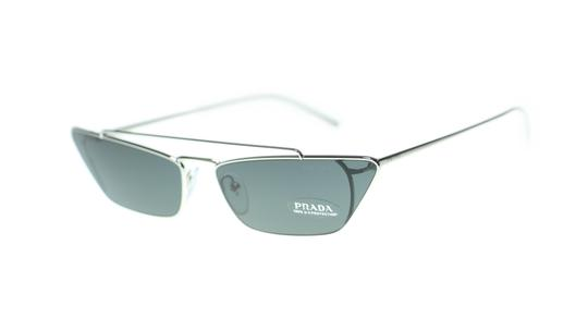 Prada Prada Women's Cat Eye Sunglasses PR64US 1BC5S0 Silver Grey Lens 67mm