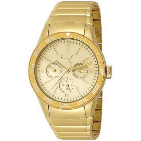 Puma PU102822003 Women's Gold Steel Bracelet With Gold Analog Dial Watch