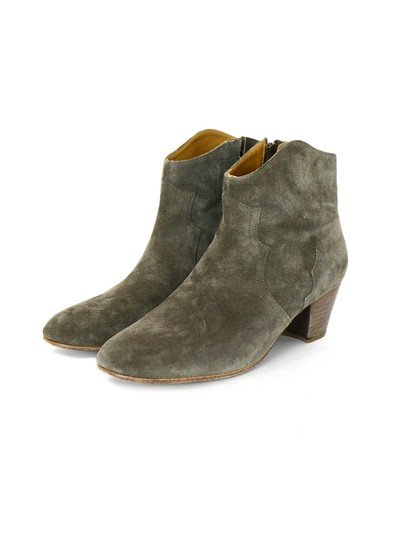 Isabel Marant Suede Biker Western Taupe Boots