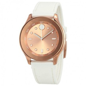 Movado Gold White Rose Ladies Silicone Watch