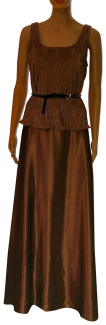 Item - Brown Bronze Long Casual Maxi Dress Size 10 (M)