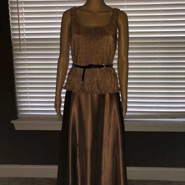 brown Bronze Maxi Dress by Cluse