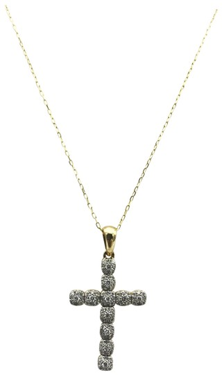 Other Yellow Gold Diamond Cross Necklace