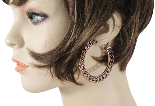 Preload https://img-static.tradesy.com/item/24157398/copper-women-chunky-hoops-thick-bronze-metal-chains-earrings-0-1-540-540.jpg