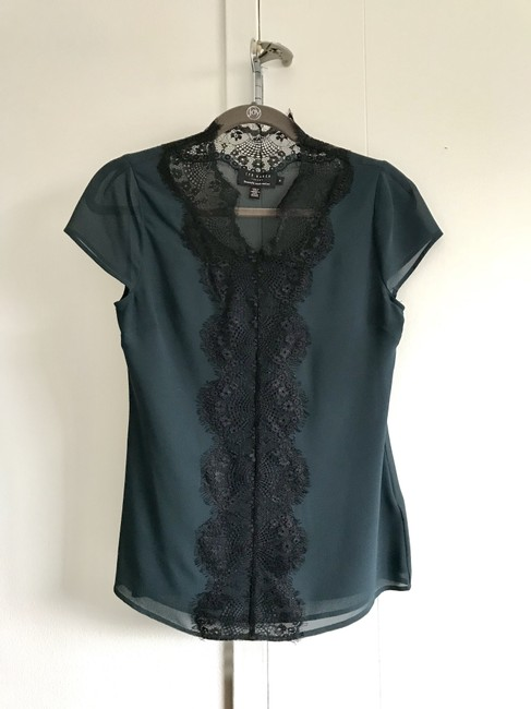 Ted Baker London Tops Sexy Lace Top Dark Green