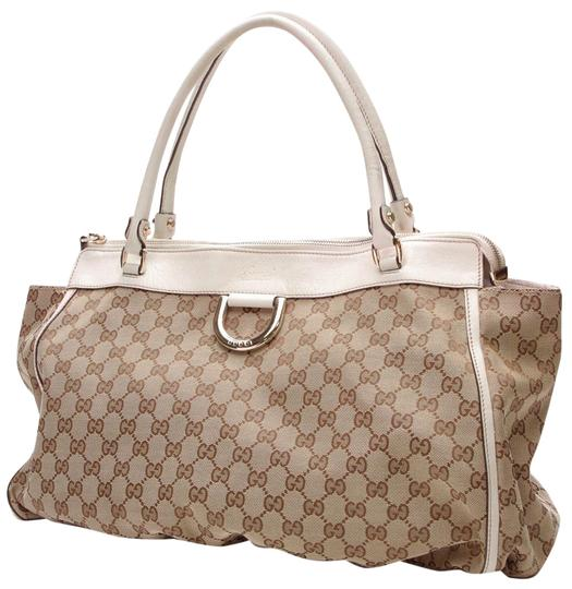 Preload https://img-static.tradesy.com/item/24157448/gucci-d-ring-gg-beige-canvas-tote-0-1-540-540.jpg