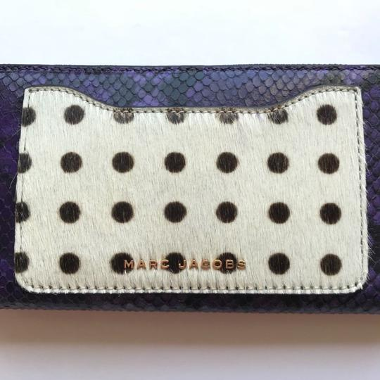 Marc Jacobs Marc Jacobs Genuine Calf Hair & Embossed Leather Continental Wallet