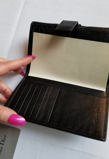 Dior Dior Leather Wallet with Lacing