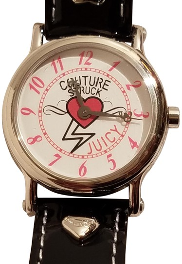 Preload https://img-static.tradesy.com/item/24157509/juicy-couture-pink-white-dial-black-leather-band-watch-0-1-540-540.jpg