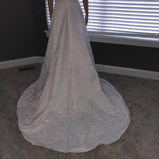 Mary's Bridal White Long Vintage Wedding Dress Size 14 (L)